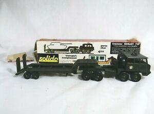 Solido n° 211 Berliet T12 Porte-char militaire 1/43 en boite / boxed