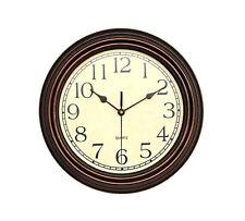 Foxtop 12 inch Silent Non-Ticking Round Classic Clock Retro Quartz Decorative...
