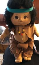 Signed Artist Soft Sculpture Doll Cabbage Patch Native American