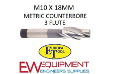 M10 X 18 mm rectificación HSS 3 flauta Europa Herramienta/Clarkson 1512011000