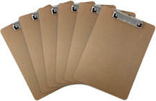 Quest Letter Size Clipboard Low Profile Clip Hardboard (Pack of 6)