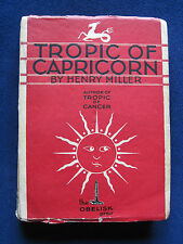 TROPIC OF CAPRICORN by HENRY MILLER First Edition 1939 Obelisk Press - Paris