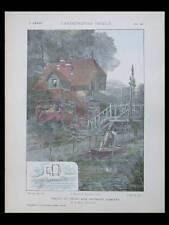 RIVERY, MAISON DE PECHE  -1906- PLANCHES ARCHITECTURE- MONTROUGE