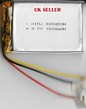 3.7v 1500mAh 3 Wire For Thermistor Lipo803450 Rechargable Battery Built-in PCB