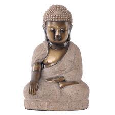 Buddha Dekofigur Skulptur Sandstein 20 cm Feng Shui Wellness Figur