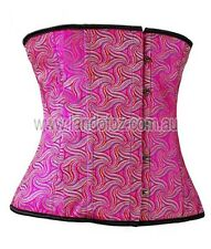 real quality wild HOT PINK CORSET @Size 20  sexy pirate gypsy wench mardi gras