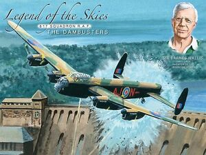 Legend Of The Skies 617 Squadron R.A.F large steel sign  400mm x 300mm (og)