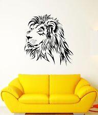Wall Decal Lion Mane Predator Animal Head King Roar Cat Vinyl Stickers (ed163)