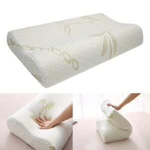 Anti Snore Bamboo Memory Foam Contour Pillow | Cervical Pillow For Side Sleepers