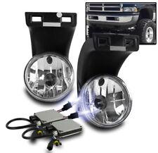 1994-2001 DODGE RAM 1500 2500 3500 PICKUP DRIVING FOG LIGHTS LAMP CHROME+10K HID