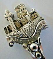 Solid Silver Souvenir Spoon, Iona, Hallmarked 1911