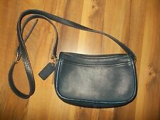 Coach  Vintage Navy Blue  Leather Small Zipe Purse Messenger Crossbody