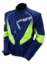 UFO Motocross Enduro Jacket Off Road Trail Adults Navy Neon Yellow L