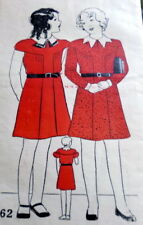 LOVELY VTG 1930s GIRLS DRESS Sewing Pattern 8