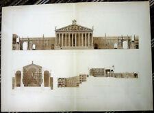 174 ~ Rome TEMPLE OF SUN RESTORED ~ 1910 Classical Architecture 2 foot Art Print