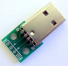 Connecteur USB male + Plaque PCB - USB connector with module board PCB plate