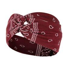 Fascia per capelli elastica donna nodo sportivo rosso bordeaux elegante  sport
