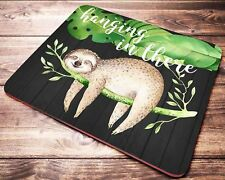 FUNNY Quote Sloth Mouse Pad Cute Watercolor Animal Office Desk Accessories Decor