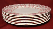 "Crown Ducal Early English Ivy (Joy) Pink  9 7/8"" Dinner Luncheon Plates- NICE!"