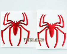 2 Spider Époxy Autocollant Set VOITURE ROUGE sticker decal badge alfa Romeo