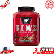 BSN TRUE-MASS Weight Gainer Muscle Mass Gainer Protein Powder Chocolate 5 82 Lbs