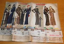 ancien CATALOGUE mode 1933 1934 magasin VETEMENT habit AU LOUVRE PARIS manteau