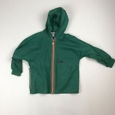 Unisex VTG Kids Youth K-Way Green Full-Zip Windbreaker Jacket Coat 4-6 Packable