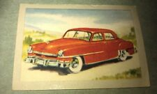 1951 CHRYSLER WINDSOR  Jacques Chocolates BELGIUM Trade Swap Card - RARE !