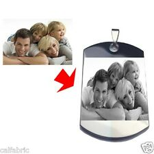 Custom Photo Engraving Dog Tag Pendant Dogtags Necklace