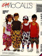 Vtg Mccall's Kinder T-Shirt, Tank Top, Hose oder Shorts&hat Muster 5941 S 2
