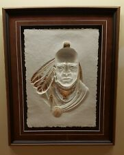 """Norman Fortin """"Red Dog"""" Cast Paper Sculpture, Hand Painted Ltd Edition 11 of 250"""