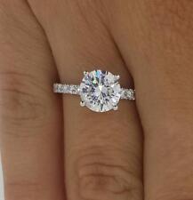2.35 Round Cut Diamond Engagement Ring  VS1/F 14K White Gold 4306