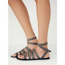 Free People Sunever Gladiator Womens Sandals, Washed Black (Gray) Size 37 (6-7)