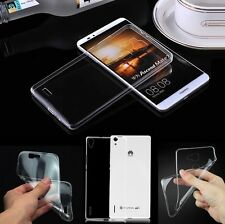 Protective Slim Clear Shockproof TPU Soft Case Cover Skin Rubber Back For Huawei