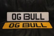 Lamborghini Personal Private Number Plate OG BULL - Original Gangster OG 13ULL
