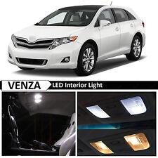 15x White Interior License Plate LED Light Package For 2009-2015 Toyota Venza