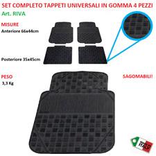 Tappeti Tappetini Auto Universali Gomma Set Completo 4pz Sagomabili Adattabili