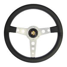 MOMO Prototipo Silver Tuner Leather 350mm Steering Wheel Spoke Classic