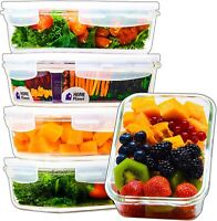 Glass Meal Prep Containers | Food Containers Glass | 5 Pack 29 Oz 3.5 Cups | ...