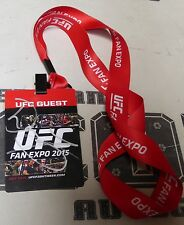 Don Frye Signed Personally Owned 2015 UFC Fan Expo Ticket Guest Pass PSA/DNA COA