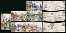 OXFORDSHIRE TUCKS OILETTE 7622 SERIES I ARTIST WIMBUSH SET of 6 POSTALLY USED