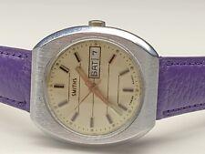 beautiful vintage smiths day/date mechanical swiss made wristwatch