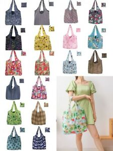 X Large Reusable Foldable Ladies Shopping Bag Eco Tote Handbag Fold Away Bag UK