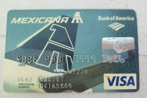 VERY RARE DEFUNCT Mexicana airlines Visa US credit card