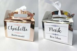 Personalised Wedding Party Gift Box Bridesmaid Best Man Thank you Gift Favour