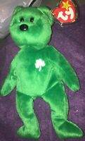 TY Beanie Baby (Erin) the Bear 1997 Retired With Tag Protector Rare