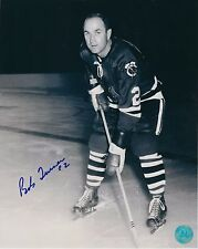 Autographed BOB TURNER Chicago Blackhawks 8x10 photo - COA