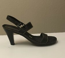 Whats What by Aerosoles Black Strap Heels Size 5.5