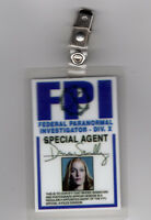 X-files TV Series ID Badge-Agent Dana Scully Miniseries costume prop cosplay