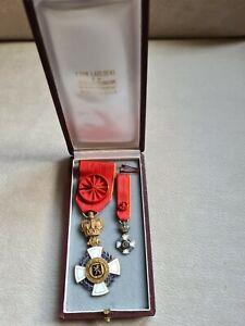 Ehrenzeichen Verdienstorden Belgien Brabant Offizier im Etui mit Mini